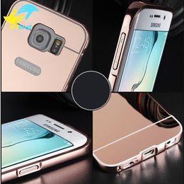 Wholesale S3 Grey - Luxury Mirror Aluminium metal Bumper Case For iPhone 5 5S 6 7 Plus 6S galaxy S3 4 5 S6 S7 edge A5 A3