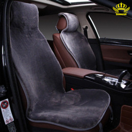 Wholesale Cotton Auto Seat Covers - 2pc front cape universal size for all types of seats faux fur car seat covers color gray Renault Logan auto sales in