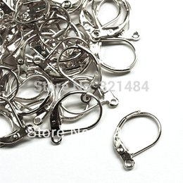 Wholesale Earrings Hooks Leverback - 100pcs Dull Silver Plated Metal Leverback Earring Hooks Findings Accessories