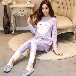 Wholesale Lounge Pyjamas Sets Women - New 2017 Spring Autumn Women's Long Sleeve Pajama Sets Women Sleepwear Pyjamas for woman casual sleep lounge girls pijama