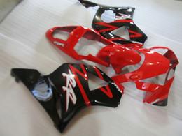 cbr929rr schwarze verkleidung kit Rabatt Spritzguss ABS Kunststoff Verkleidungssatz für Honda CBR900RR 00 01 rot schwarz Verkleidungssatz CBR929RR 2000 2001 OT26