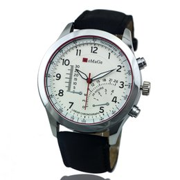 Wholesale Womage Colors - 100pcs lot WOMAGE-1232 9 Colors Men Digital Leather Strap Watch Speed Racing Alloy Casual Wristwatch Wholesale