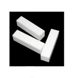 Wholesale White Block For Nails - Nail Art Buffer File Block Pedicure Manicure Buffing Sanding for finger White Makeup Beauty Tools in stock