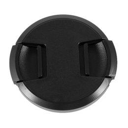 Wholesale Plastic Lens Cap - Wholesale-2x 2 Pcs 62mm Plastic Clip On Front Lens Cap Cover Black for Camera