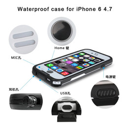 Wholesale Iphone 4s Cases Black - sell 1 pc shockproof Dustproof Waterproof case swimming surfing case cover for iphone 6 6 plus 5 5s 4 4s with retailout box with opp bag