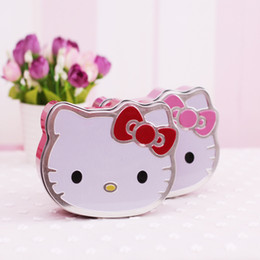 Wholesale Plate Candy Box - Cartoon Cat Tin Plate Candy Boxes Hello Kitty Shaped Chocolate Wedding Decoration Favors Gifts Box 3 Sizes