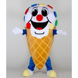 Wholesale Ice Mascot - Ice Cream Mascot Costume Fancy Birthday Party Dress Halloween Carnivals Costumes With High Quality For Adult