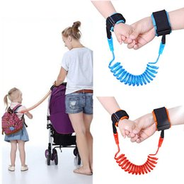 Wholesale Braclet Links - Child Anti Lost strap Kids Safety 1.5M Wristband Leashes Anti-lost Wrist Link Band Baby Toddler Harness Leash Adjustable Braclet Lany YYA193