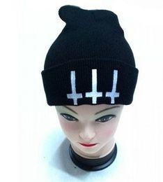 Wholesale devil knitted cap - Satan evil devil demon fashion cap hat autumn and winter knitted hat skiing wool cap Headgear Headdress Head Warmer Skiing warm hat