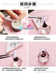 Wholesale Drill Uv - 50 pcs wholesale Japan Super Accessories Nail Gel Stick Drill Glue A nail sticking Transparent Plastic accessories Manicure Metal Jewelry