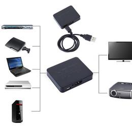 Wholesale Inputs Dvd Player - 200PCS LOT Free shipping 1080P 3D 4K HDMI Splitter Switcher 1*2 1 Input 2 Output for DVD Player HDTV