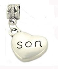 Wholesale Good Sports Necklace - Lovely Son good boy protect sister love dad mom uncle aunt grandma family number pandora pendant heart bead for Necklace bracelet as gift