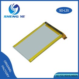 Wholesale xperia mobiles - For Sony L35H Li-ion polymer battery LIS1501ERPC 2330mAh Mobile Phone Accessories Parts For Sony Ericsson Xperia ZL L35H lt35i C6503 C6506