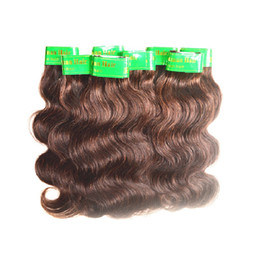 Wholesale Coffee Wave - wholesale cheap 5a indian human hair body wave 1kg 20bundles lot coffee brown color real unprocessed indian virgin hair extensions weaves