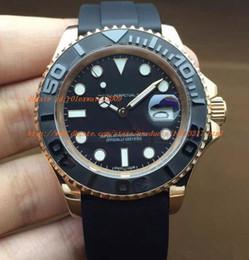 Wholesale Watche Brand - 2016 rose Gold Automatic Mechanical Brand Watch Men 116655 Luxury Brand Strap Sport Clock Men Watche