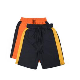 Pantalones cortos a rayas de peso ligero 2017 verano para hombre Rayas de la vendimia Paneled Track Shorts Envío gratis desde fabricantes