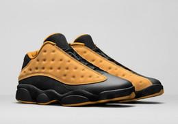 Wholesale Brave Blue - 2017 air retro 13 men basketball shoes Low Chutney Navy Brave blue GS Pure Money History of Flight DMP black cat Sports Sneakers