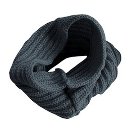 Wholesale Girls Ladies Knitted Scarves - Wholesale- 2017 New Ladies Girls All-match Winter Warm Knitting Wool Collar Neck Warmer Scarf Shawl Wraps -MX8