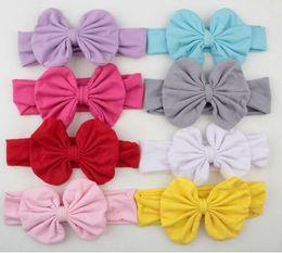 Wholesale Metallic Wrap - Hair Accessories Baby Girls Kids Toddler Bow Hairband Headband Stretch Turban Knot Head Wrap YH452