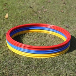 Wholesale Wholesale Soccer Training Agility - 12Pcs  Set 40Cm Soccer Speed Agility Rings Abs Material Sensitive Football Training Equipment Pace Lap Football Ball Training