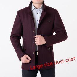 Wholesale 7xl Winter Coats - Wholesale- 2016 winter men's coat single-breastedslim thicker wool jacket male trench coat manteau large size 7XL 8XLFree shipping