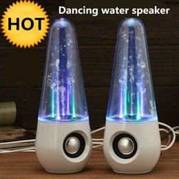 Wholesale Dancing Mini Music Speaker - LED Dancing water speakers LED Light music fountain players Portable Audio USB players for cellphones Laptops PC MP3 free shipping