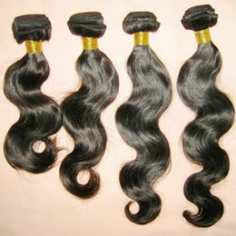 Wholesale Fast Fresh - New Fresh dear 4pcs lot unprocessed Peruvian Body Wave Hair Wefts Natural Color 1B Fast delivery
