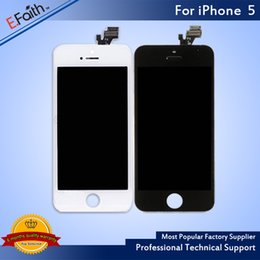 Wholesale Digitizer Lcd Touch Screen - For Black iPhone 5 LCD Display &Touch Screen Digitizer Full Assembly & DHL Shipping