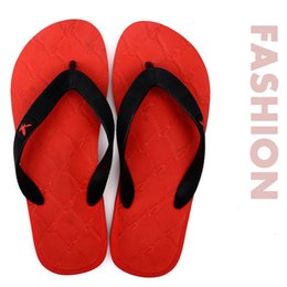 Wholesale Sandal Outsole - Wholesale-Summer mens beach flip flops fashion casual flat sandals sport male outdoor comfortable slippers of rubber outsole