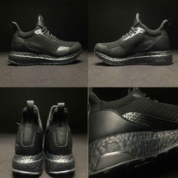 Wholesale Ha Women - 2017 Top Quality A+++ Consortium x HA VEN UltraBOOST Black BY2638 Running Shoes Nipple Real Boost Men Women Sneakers 36-46