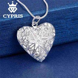 Wholesale Picture Heart Pendant - Wholesale- Best Selling Fashion Pendant Heart Locket Plate Charm Necklace silver 13styles Cheap wholesale bulk album for picture