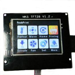 Pantalla de visualización 12v online-Freeshipping 2.8 MKS-TFT28 Pantalla LCD 12V 3D Impresora Touch Screen Control Board LCD Soporte MKS Wifi Módulo U disco y tarjeta SD