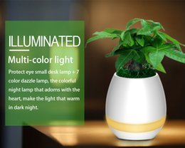 Wholesale Big Kid Night Light - Music Flower Pot Bluetooth Speaker Flowerpot DIY Plant Night Light Touch Control Rechargeable Lamp Festival Gift for Children Family Friends