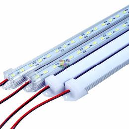 "2019 led-linse 15w Wasserdichter harter LED Streifen 5630 SMD LED Stab 50cm 100cm LED Stab-Licht mit ""u"" Art-Shell-Gehäuse mit Endkappe + PC-Abdeckung"