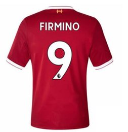 Wholesale 9 Firmino M Salah Coutinho Mané Lallana Create Soccer Jersey With Your Name and Number Thai Quality Soccer Tops