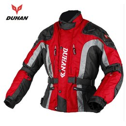 Wholesale Motorcycle Jackets Oxford - DUHAN Motocross Equipment Gear Cotton Underwear Cold-proof Moto Jacket Men's 600D Oxford Cloth Street Motorcycle Jacket