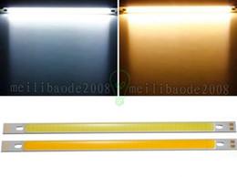 Wholesale 24v Led Emergency Light - 2017 New Big Promotion 10W COB LED Strip Lights Bulb Lamp Pure White Warm White 12-24V 1000LM for DIY 200x10MM MYY