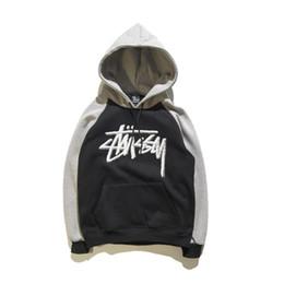 Wholesale Sweatshirt Outerwear Jacket - 2017 new Men's Sportswear Fashion Brand Hoodies stussy's Shark Outerwear Jacket Brand Men Hooded suprem Sweatshirts