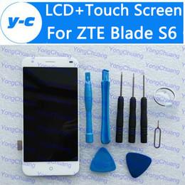 2019 digitalizador de tela de vidro s6 Atacado- para zte blade s6 lcd + touch screen novo display digitador painel de vidro assembléia substituição para zte s6 1280x720 hd 5.0 polegadas desconto digitalizador de tela de vidro s6