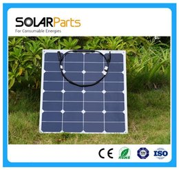 Wholesale Solar Cell Make - Solarparts 50W semi-flexible sunpower back contact solar panel made with high efficiency USA Sunpower solar cell outdoor charger