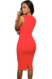 Wholesale Short Jeweled Dresses - 2016 Fashion New Women Black Jeweled Shoulder Sleeveless Midi Dress
