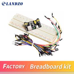 Wholesale Sliding Kits - MB102 Breadboard power module+MB-102 830 points Solderless Prototype Bread board kit +65 Flexible jumper wires