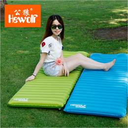 Wholesale Indoor Outdoor Cushions - Wholesale- Hewolf outdoor air bag ultra - light inflatable cushion mattresses single widening thicker indoor lunch break waterproof