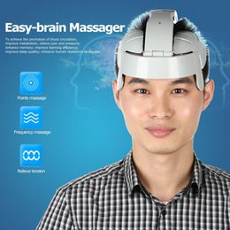Wholesale Brain Massage - Electric Head Massager Brain Massage Relax Acupuncture Points Gray Fashion (Color: Grey)