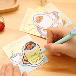Wholesale School Egg - Wholesale- New Arrival Gudetama Lazy Egg Self-Adhesive Memo Pad Sticky Notes Post It Bookmark School Office Supply 40 page 1 sheet