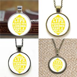 Collar de limon online-10pcs cuando Life Hands You Lemons hace un collar de Gin And Tonic llavero marcador gemelos pulsera