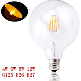 Wholesale E26 Globe Led Bulbs - 4W 6W 8W 12W G125 filament LED bulbs light E27 E26 dimmable led bulb 2200k CE ROHS SAA UL Approval