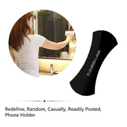Wholesale Random Materials - Hot Mobile Phone Random Sticky Bracket Holder 2pcs 'FLOURISH LAMA' with All Smartphone Universal Stand Anti-skid Pad for Nano Material