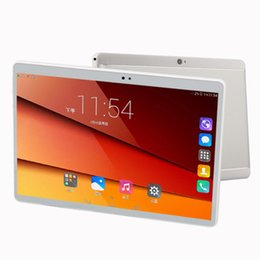 Wholesale Touch Play Tablet - Tablet 10 inch 4G mobile phone Android 6.0 WiFi dual sim 4G mobile phone. Play the game with eight kernel 4G runs IPS eye screen