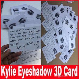 Wholesale Eye Shadow 3d - New Kylie Cosmetics 3D card for kyshadow eyeshadow the Bronze Palette kylie pressed powder eye shadow only card